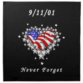 El tatuaje 911 nunca olvida servilletas de papel