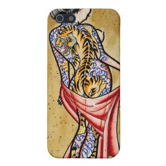 """""""El tatuaje del tigre """" iPhone 5 Cárcasas"""