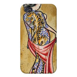 """""""El tatuaje del tigre """" iPhone 4/4S Carcasa"""