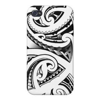El tatuaje maorí diseña el moko de Nueva Zelandia iPhone 4 Funda