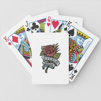 """el tatuaje precioso florece rojo y verde de la """" baraja cartas de poker"""