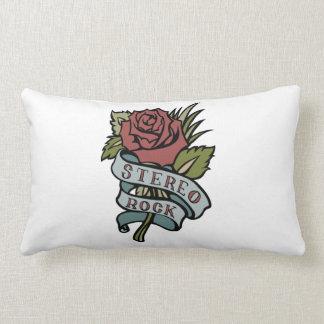 """El tatuaje precioso florece rojo y verde de la """" cojín"""