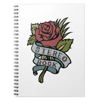 """El tatuaje precioso florece rojo y verde de la """" cuaderno"""
