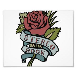 """el tatuaje precioso florece rojo y verde de la """" impresiones fotograficas"""