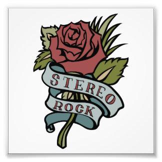 """el tatuaje precioso florece rojo y verde de la """" fotografía"""