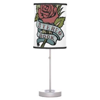 """El tatuaje precioso florece rojo y verde de la """" lámpara de escritorio"""