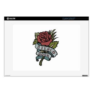 """El tatuaje precioso florece rojo y verde de la """" portátil calcomanía"""
