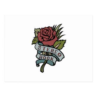 """el tatuaje precioso florece rojo y verde de la """" postales"""