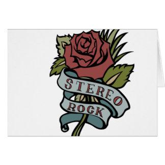 """El tatuaje precioso florece rojo y verde de la """" tarjeta de felicitación"""