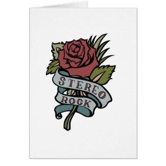 """El tatuaje precioso florece rojo y verde de la """" tarjeta pequeña"""