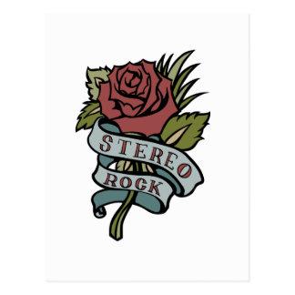 """El tatuaje precioso florece rojo y verde de la """" tarjeta postal"""