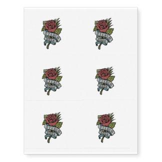 """El tatuaje precioso florece rojo y verde de la """" tatuajes temporales"""