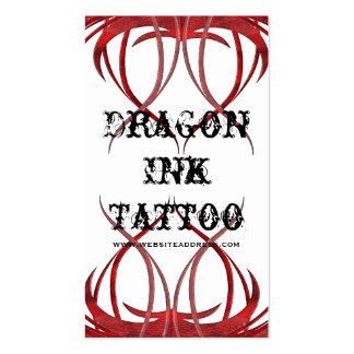 El tatuaje rojo diseñó tarjetas de visita