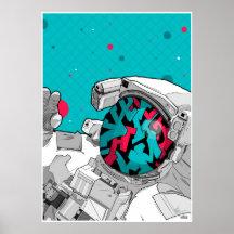 El taveller del espacio de la pintada posters