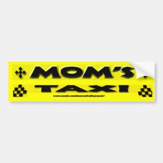 El taxi de la mamá pegatina para auto