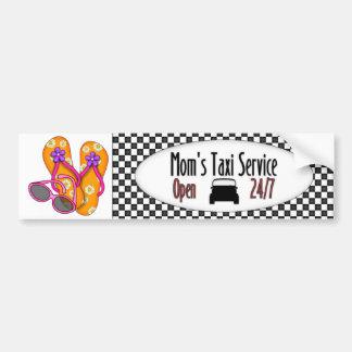El taxi de la mamá - SRF Etiqueta De Parachoque
