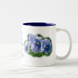 El Taza-personalizar azul del pensamiento y person