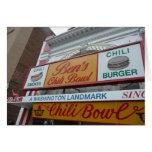 El tazón de Ben, Washington DC, señal icónica Tarjetas