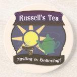 El té de Russell Posavasos Personalizados
