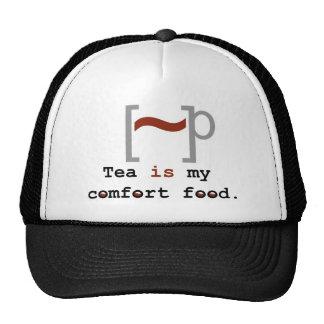 El té es mi comida de la comodidad gorro de camionero