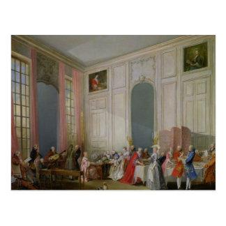 El té inglés y un concierto de la sociedad postales