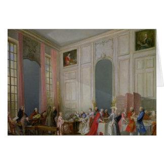 El té inglés y un concierto de la sociedad tarjeta de felicitación