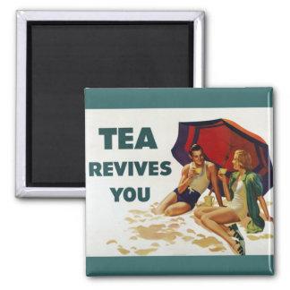 El té le restablece imán cuadrado