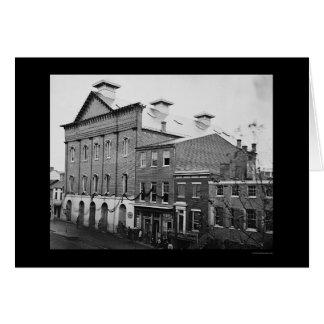 El teatro de Ford, escena de la muerte 1865 de Tarjeta De Felicitación