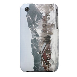 El teatro de la ópera con las esculturas de nieve carcasa para iPhone 3