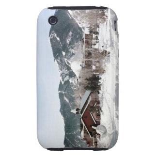 El teatro de la ópera con las esculturas de nieve carcasa resistente para iPhone