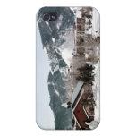 El teatro de la ópera con las esculturas de nieve iPhone 4 protectores