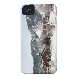 El teatro de la ópera con las esculturas de nieve funda para iPhone 4 de Case-Mate