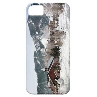 El teatro de la ópera con las esculturas de nieve funda para iPhone SE/5/5s