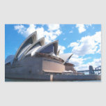 El teatro de la ópera de Sydney Rectangular Pegatina