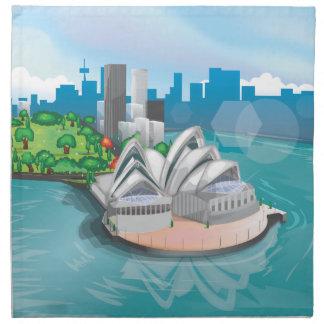 El teatro de la ópera de Sydney Servilletas Imprimidas
