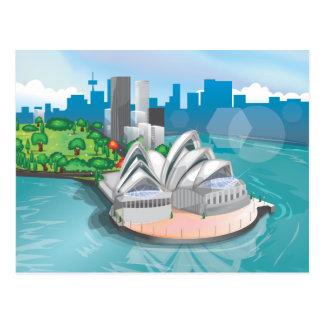 El teatro de la ópera de Sydney Tarjeta Postal