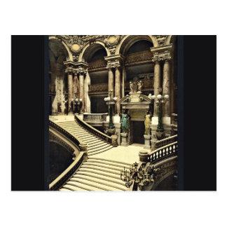 El teatro de la ópera la escalera magnífica Parí Postales