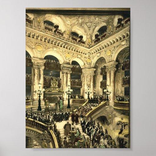 El teatro de la ópera, la inauguración de la ópera póster