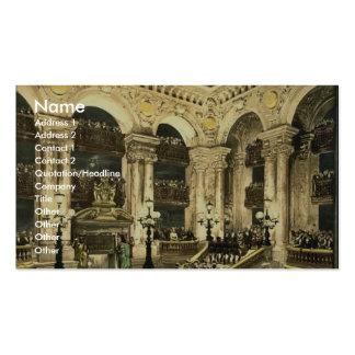 El teatro de la ópera, la inauguración de la ópera tarjeta de negocio