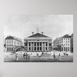 El teatro de l'Odeon, 1830 Póster