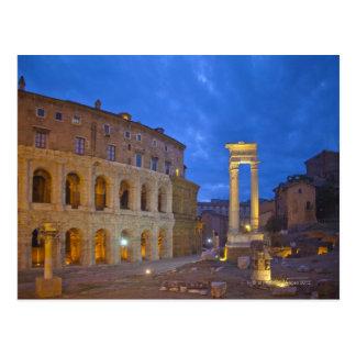 El teatro de Marcelo en Roma en la noche Postal