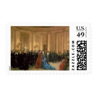 El teatro de Odeon, París, 1869 (aceite en lona) Sello