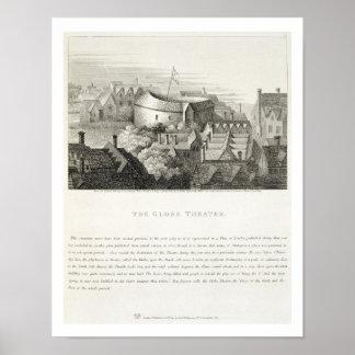 El teatro de The Globe c 1647 publicado por Robe Impresiones
