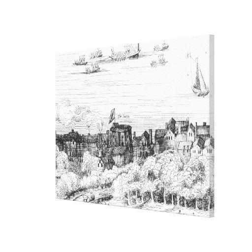 El teatro del cisne en el Bankside como él Lona Envuelta Para Galerias