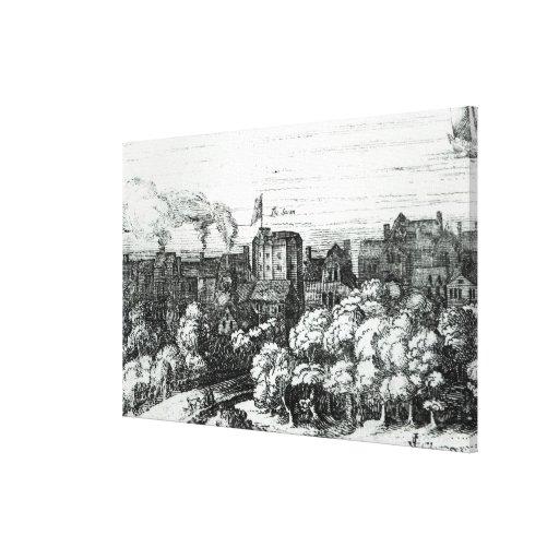 El teatro del cisne en el Bankside Impresión En Lona