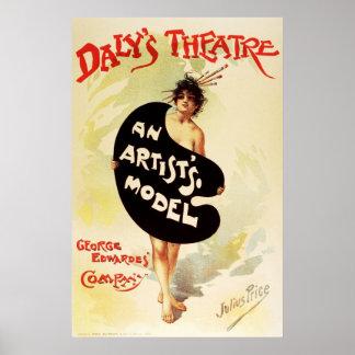 El teatro del Daly del precio de Julio el modelo d Póster
