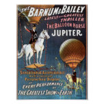 El teatro del vintage de Júpiter del caballo del g Poster