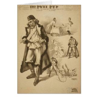 El teatro del vintage del mal de ojo tarjeta de felicitación