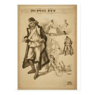 El teatro del vintage del mal de ojo postales