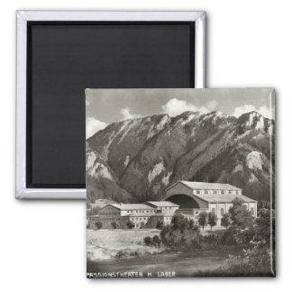 El teatro en Oberammergau, 1930 Imán Cuadrado